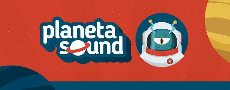 Cartel del Planeta Sound en Ponferrada