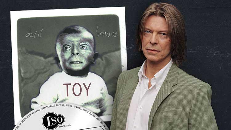 Montaje promocional para el lanzamiento de 'Toy' de David Bowie
