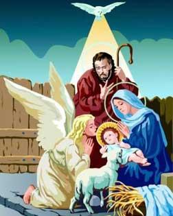 Fotos De Navidad Del Nino Jesus.Postales De Navidad El Angel Con El Nino Jesus